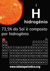 hidrogênio no sol