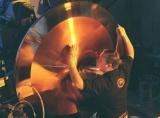miniatura disco cobre fresnel