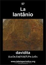 mineral que contém o elemento lantânio