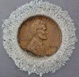 em moeda de cobre