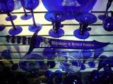 vidro azul com cobalto miniatura