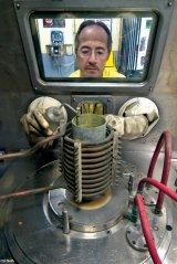 manipulação de amostra radioativa