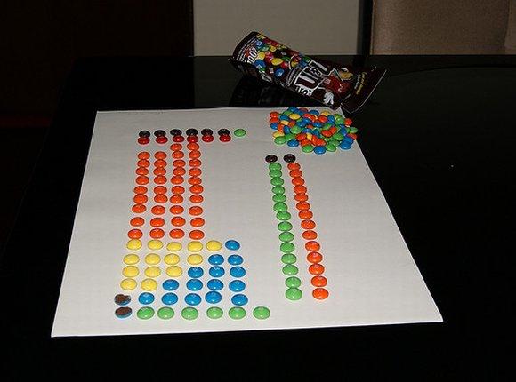 tabela periódica com doces