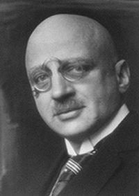 rosto do químico alemão