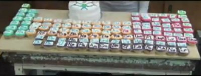 cada elemento é um cupcake