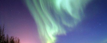 Aurora rosa. Uma influência do nitrogênio