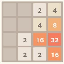tela do jogo 2048
