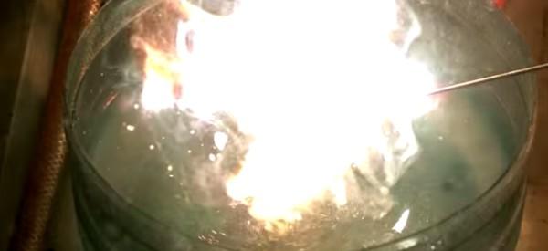 chama brilhante do magnésio