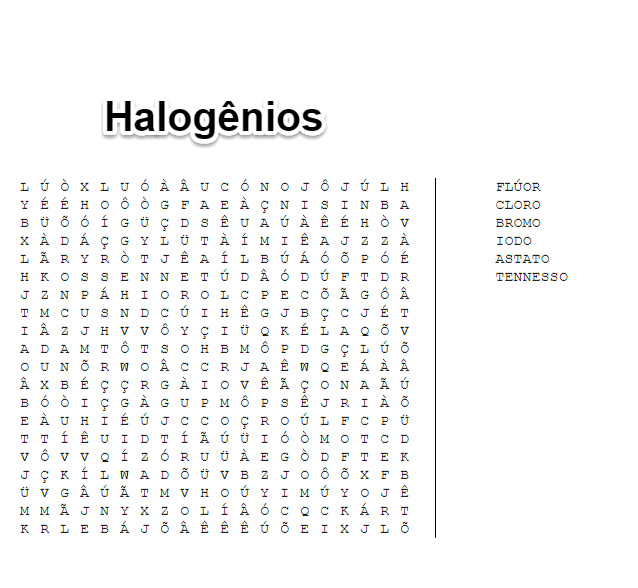 elementos halogênios