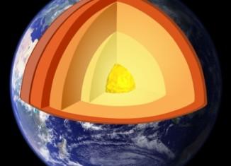 representação gráfica do interrior do planeta Terra