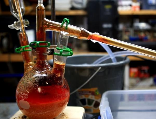 destilação de bromo
