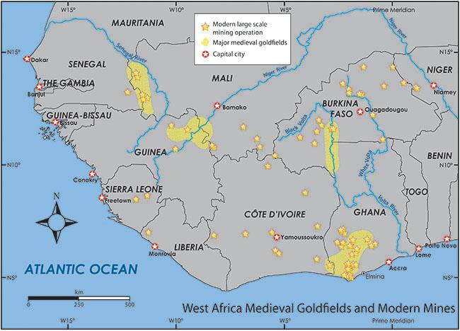 mapa com localização de mineração