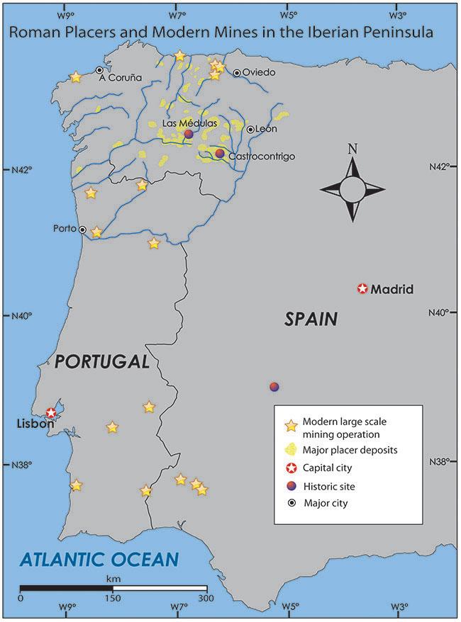 localização de mineração na europa