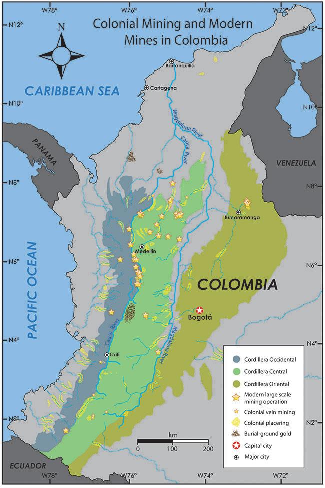 localização de mineração em mapa
