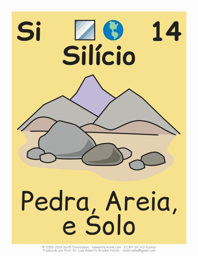 em rochas areia e minerais