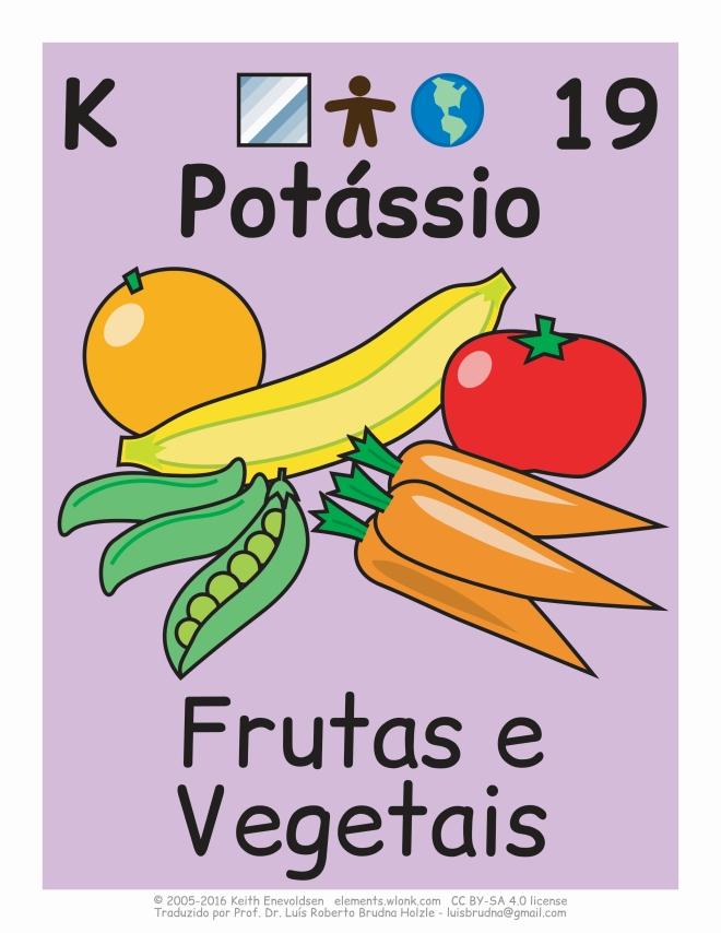 elemento químico potássio em alimentos