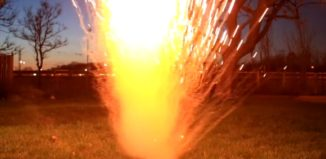 explosão da reação do sódio