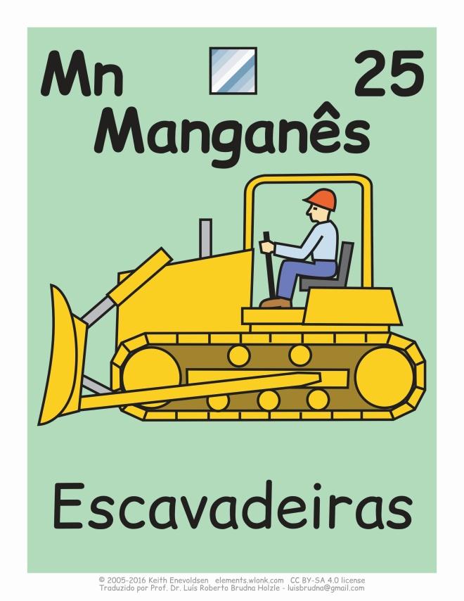 escavadeira pode conter manganês