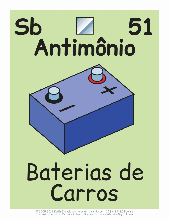usado em baterias de carros