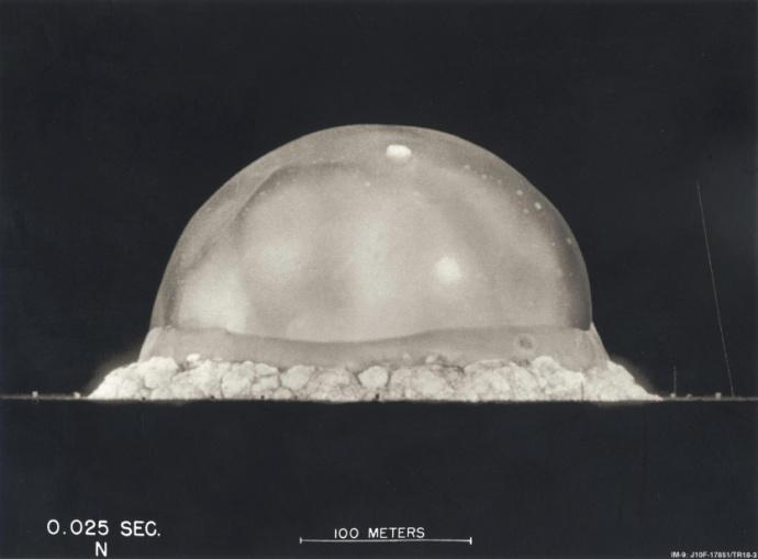 registro de uma explosão atômica