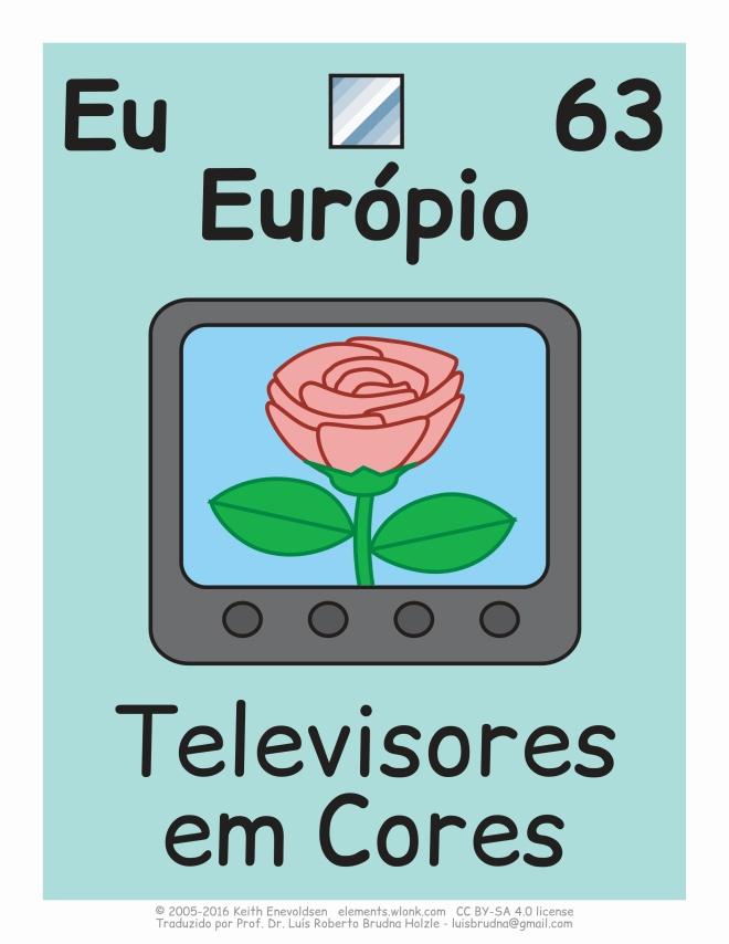 tv cores com európio