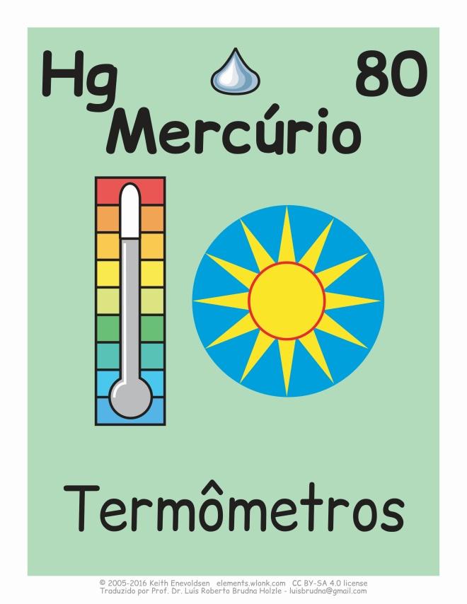 elemento químico mercúrio e usos no cotidiano