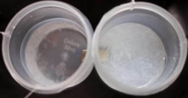 experimento para solidificação do oxigênio