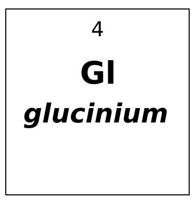 Elemento 'Glucinium' – um nome recusado