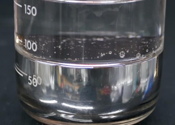 Método de limpeza de mercúrio líquido