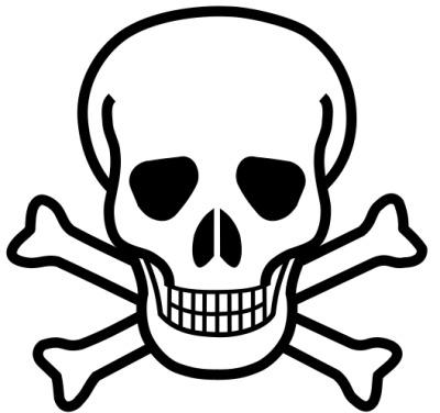 símbolo material venenoso