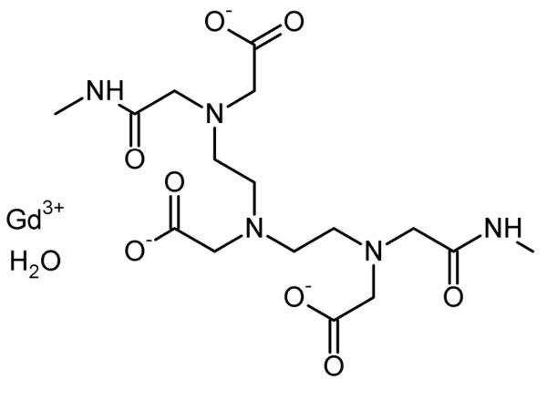 estrutura química da substância gadodiamida